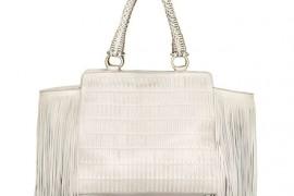 Salvatore Ferragamo Verve Fringe Woven Leather Bag