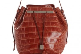 The Row Alligator Drawstring Bucket Bag