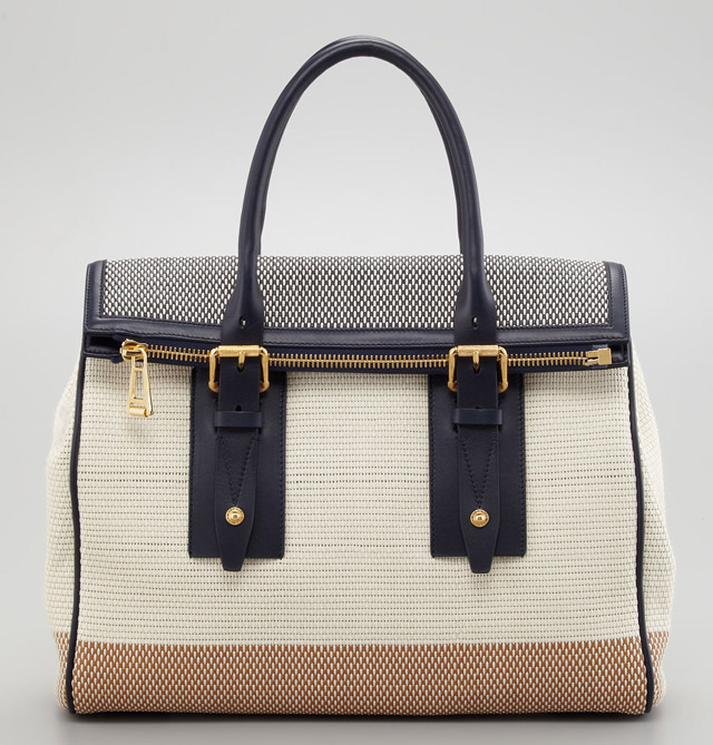 Belstaff Dorchester 36 Woven Leather Bag