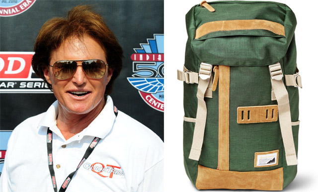 Bruce Jenner and Master-Piece Over Canvas Backpack