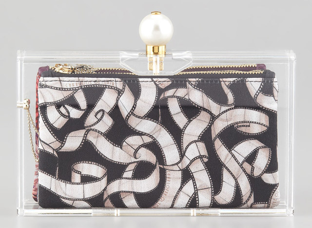 Charlotte Olympia Pandora Pearly-Clasp Clutch
