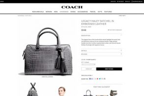 Coach.com New Design Product Page