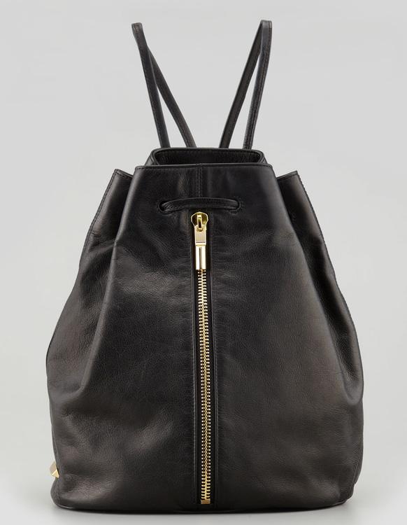 Elizabeth and James LeaElizabeth and James Leather Drawstring Sling Bagther Drawstring Sling Bag