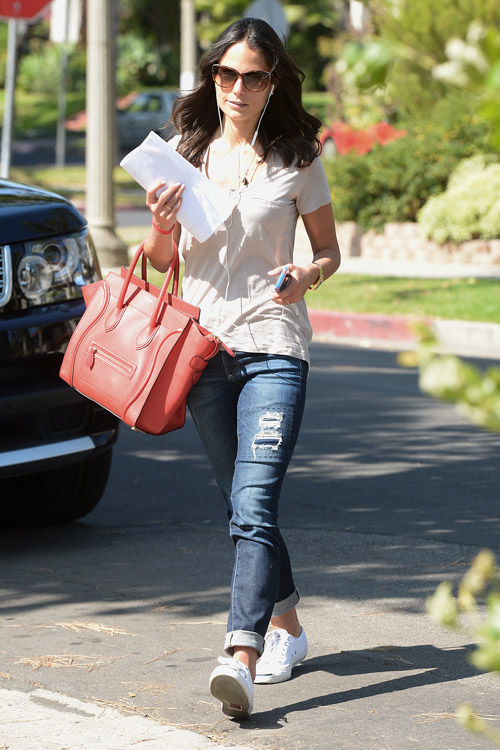 Famke Janssen carries a Celine Luggage Tote in LA (5)