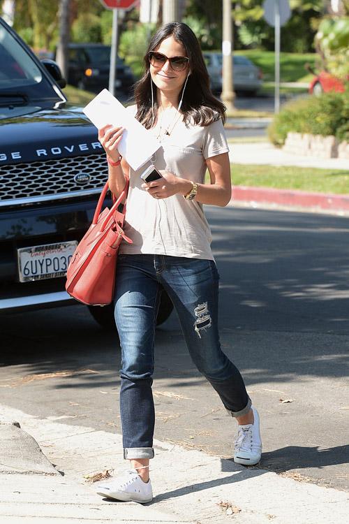 Famke Janssen carries a Celine Luggage Tote in LA (4)