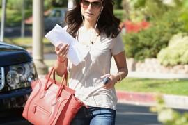 Famke Janssen carries a Celine Luggage Tote in LA (1)