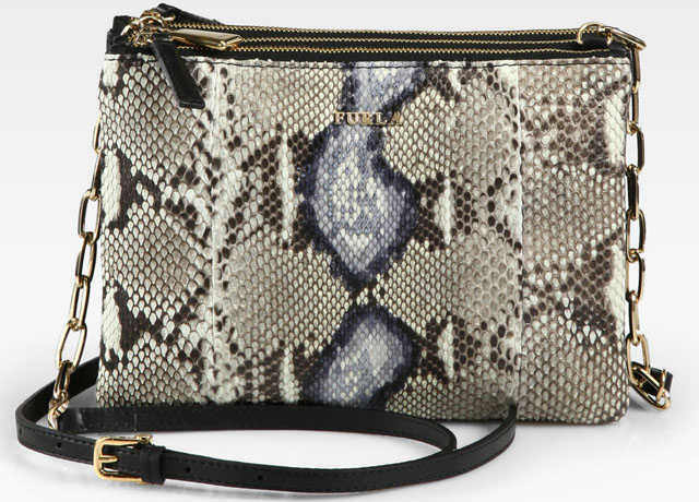 Furla Python Three Compartment Shoulder Bag