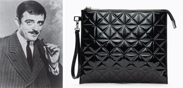 Gomez Addams and Gareth Pugh Quilted Patent Pouch