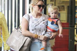 Hilary Duff Switches Her Baby Bag to Chanel