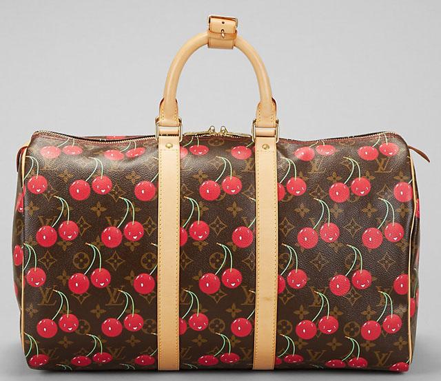 Louis Vuitton Murakami Cerises Keepall Bag