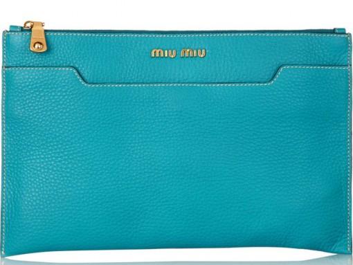 Miu Miu Grained Leather Clutch