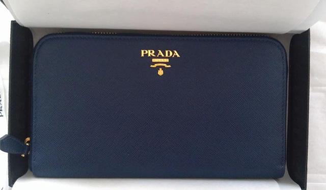 Prada Saffiano Zip Wallet