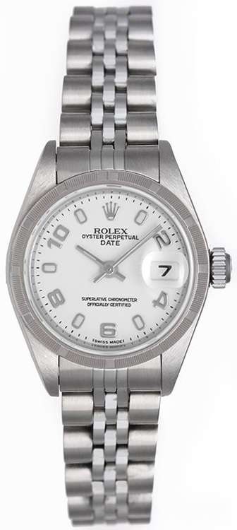Rolex Date Stainless Steel Watch