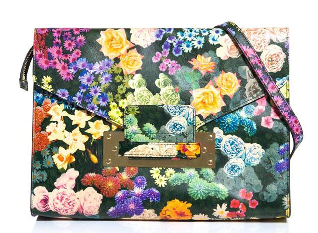 Sophie Hulme Floral Large Envelope Clutch