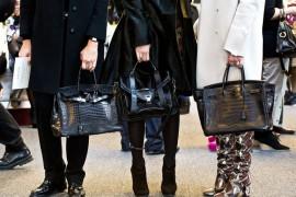 Handbags and shoes at work