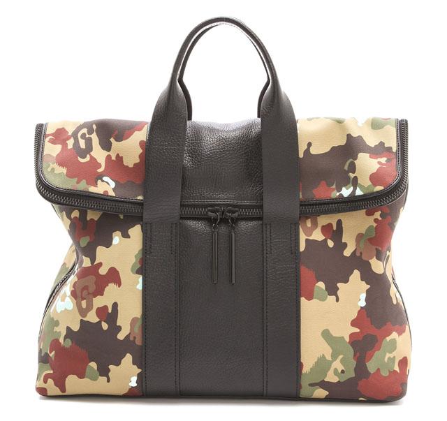 3.1 Phillip Lim Camouflage Canvas 31 Hour Bag