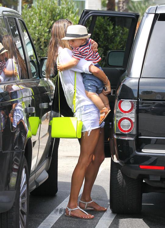 Alessandra Ambrosio carries a neon yellow MICHAEL Michael Kors Selma Messenger Bag (2)