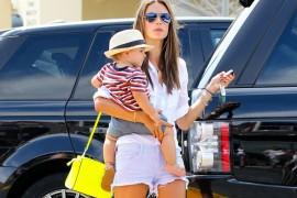 Alessandra Ambrosio carries a neon yellow MICHAEL Michael Kors Selma Messenger Bag (5)