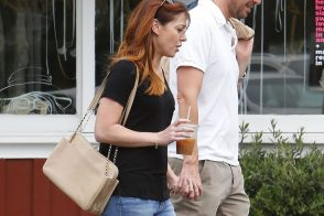 Alyson Hannigan Carries Chloe While Hanging With Her Husband