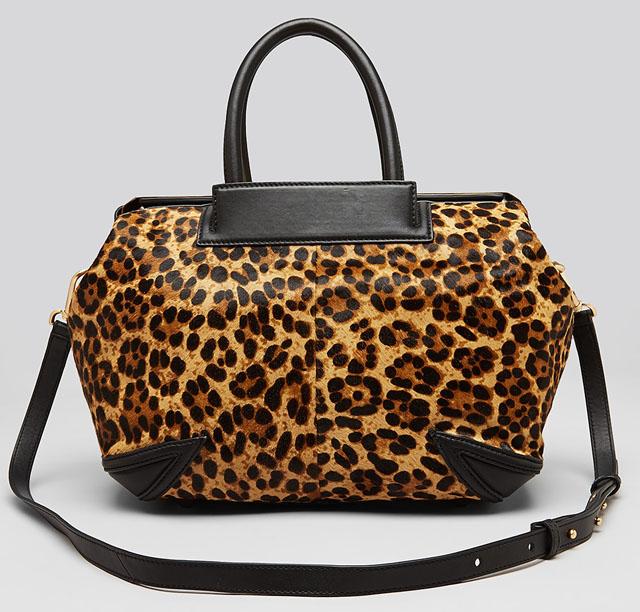 B Brian Atwood Sophia Leopard Doctor Bag