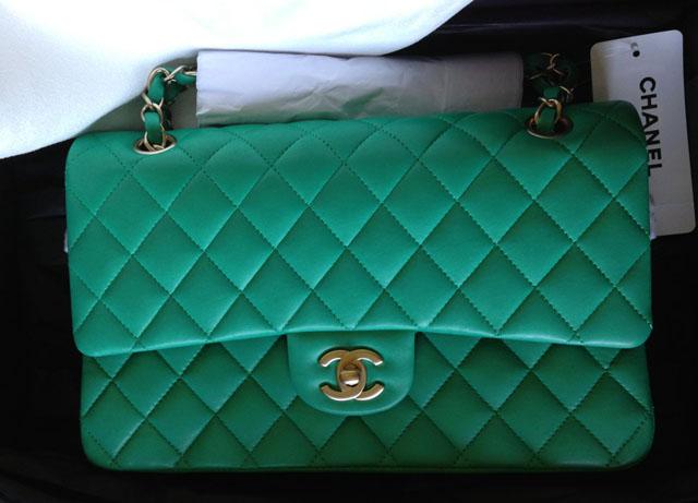 Chanel Green Classic Flap Bag