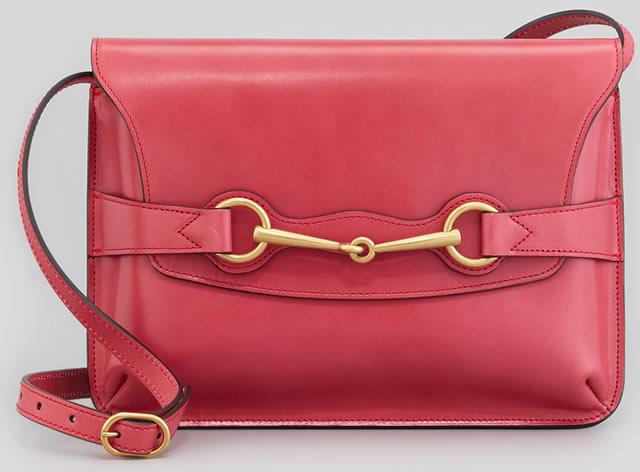 Gucci Bright Bit Leather Shoulder Bag