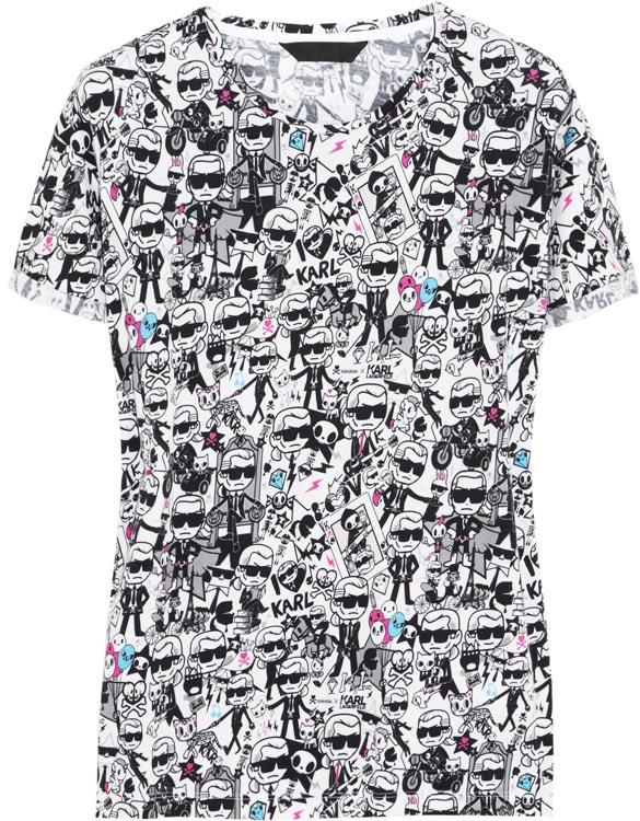 Karl Lagerfeld x Tokidoki Print T-Shirt