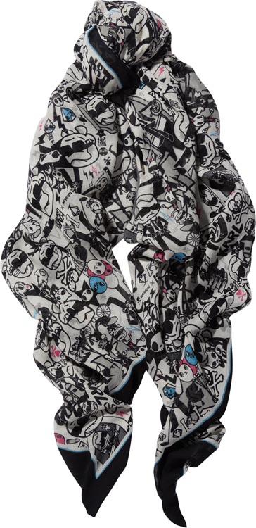 Karl Lagerfeld x Tokidoki Printed Cotton Blend Scarf