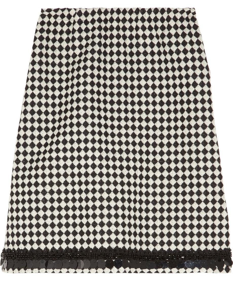 Marni Embellished Jacquard Skirt