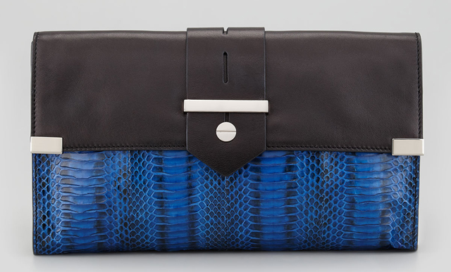 Milly Makenna Watersnake Clutch Bag