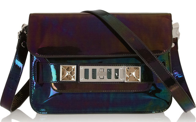 Proenza Schouler PS11 Mini Holographic Shoulder Bag