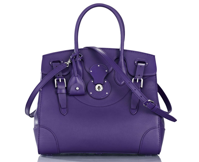 Ralph Lauren Soft Ricky Bag Purple