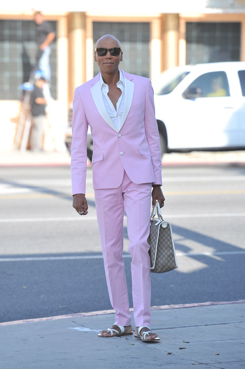 RuPaul carries a Gucci logo tote bag in Beverly Hills (2)