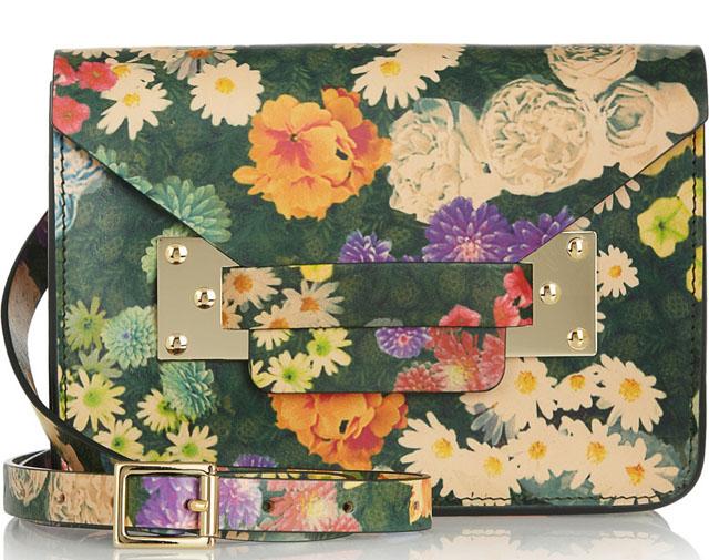 Sophie Hulme Envelope Floral Shoulder Bag