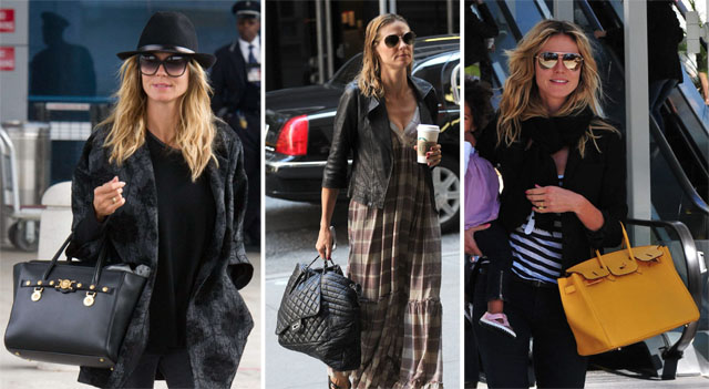 The Many Bags of Heidi Klum