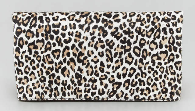 Alice + Olivia Cheetah Me Calf Hair Clutch