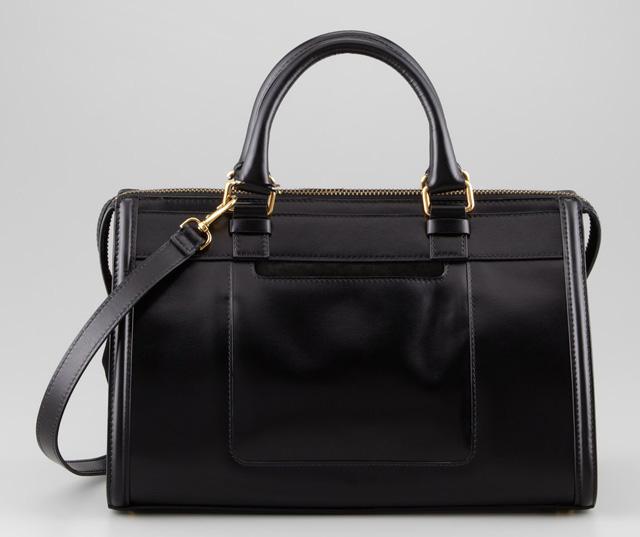 Belstaff Catherine Box Leather Shoulder Bag Black