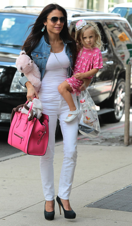 Bethenny Frankel carries a Celine Luggage Tote in NYC (3)