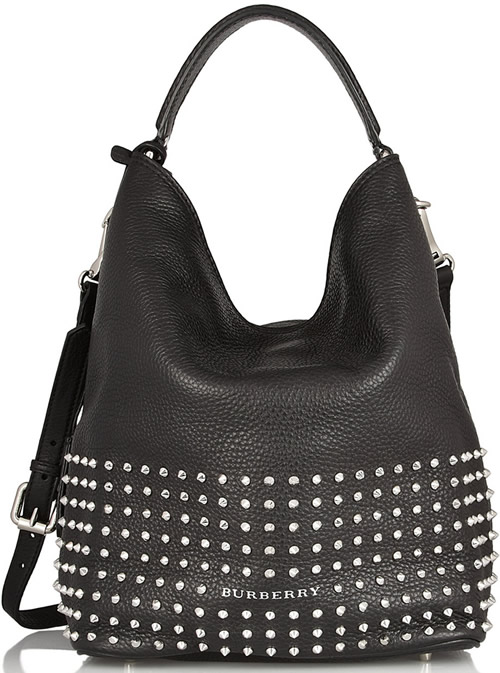 Burberry Studded Textured-Leather Tote