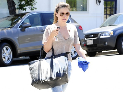 Sophia Bush carries a Coach x Krink tote in Beverly Hills (5)
