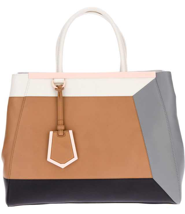 Fendi 2Jours Colorblocked Bag