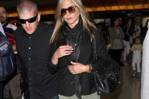 Jennifer Aniston Sticks to Neutrals with a Chanel Flap Bag