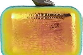 Kotur Morley Reflective Iridescent Clutch