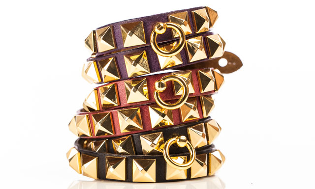 Linea Pelle Studded Bracelets