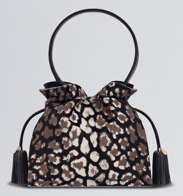 Loewe Flamenco Leopard Calf Hair Bag