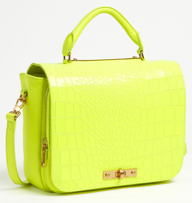 Marc by Marc Jacobs Goodbye Columbus Croc Embossed Satchel