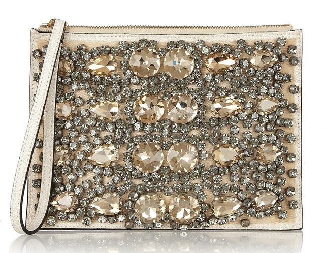Marni Crystal-Embellished Pouch