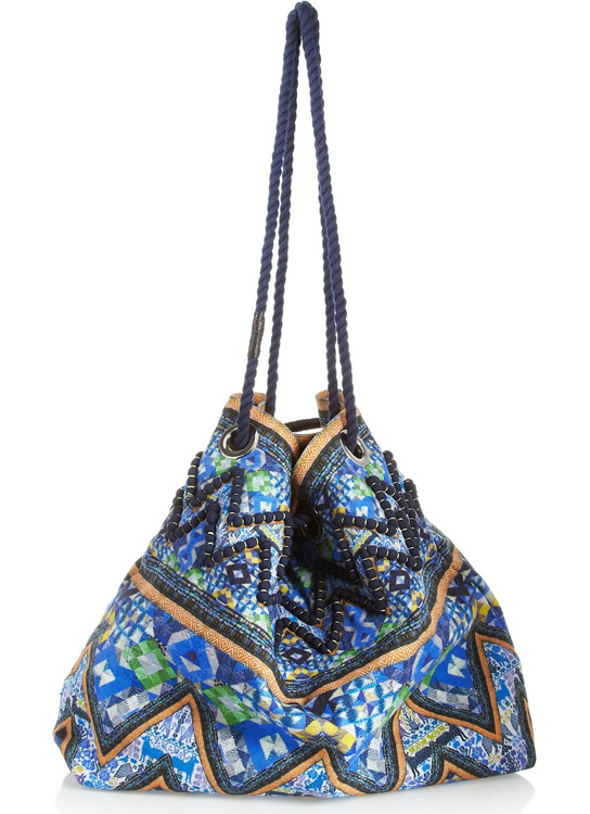 Matthew Williamson Printed Cotton-Canvas Shoulder Bag