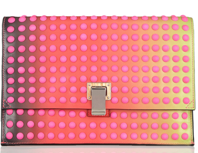 Proenza Schouler Studded Degrade Leather Clutch