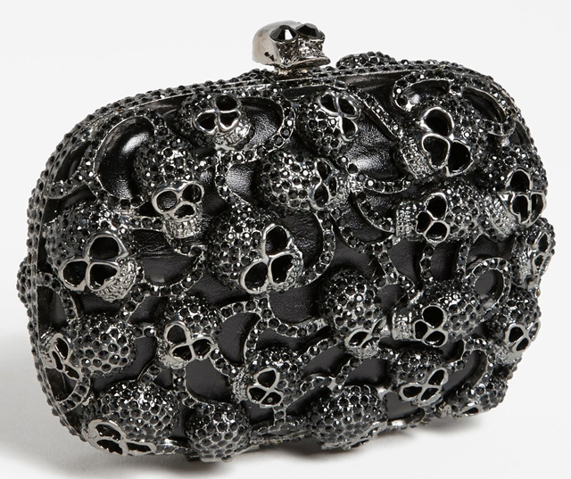 Tasha Skulls Clutch